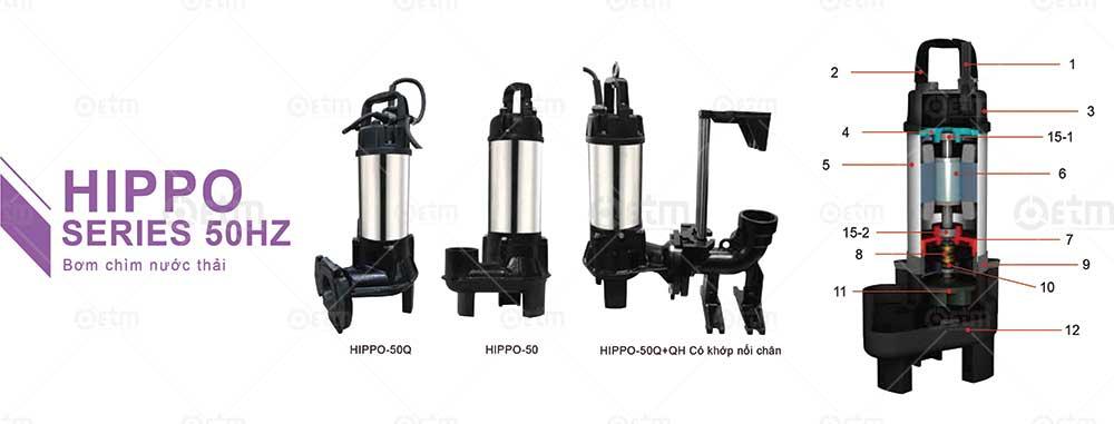 Catalogue máy bơm chìm evak HIPPO Series
