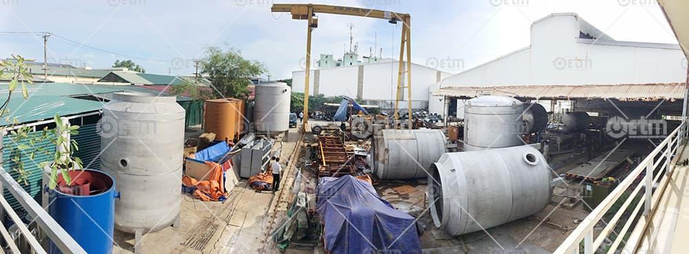 Gia công cơ khí chế tọa bồn, tăng, téc xử lý nước thải
