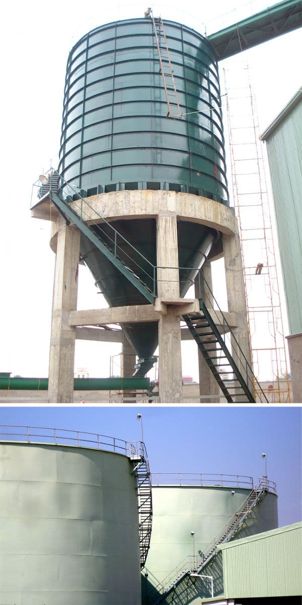 Công trình xử lý tro bụi tại nhà máy nhiệt điện phả lại.
