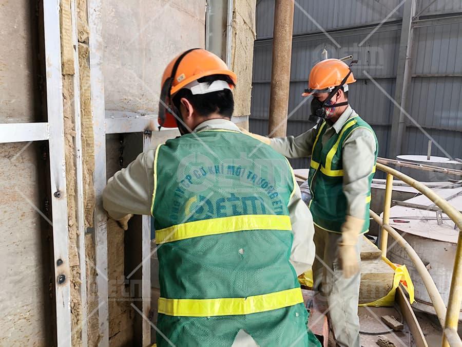 Công trình cải tạo tháp sấy phun nhà máy gạch Prime