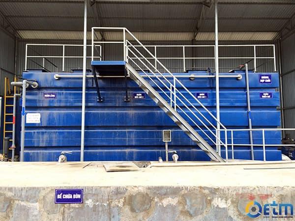 Công trình xử lý nước thải Italisa sử dụng modul hợp khối
