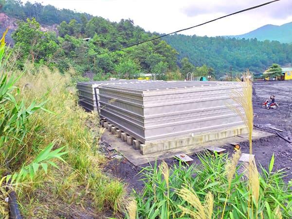 Bể nước công nghiệp công trình than Uông Bí