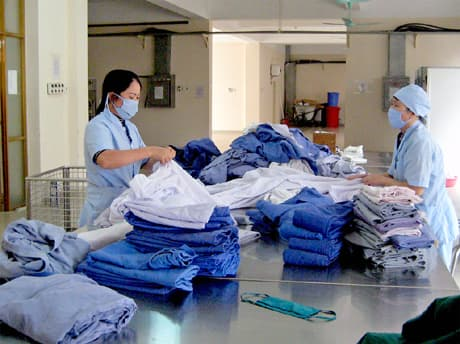 Các công đoạn trong quy trình xử lý nước thải giặt là