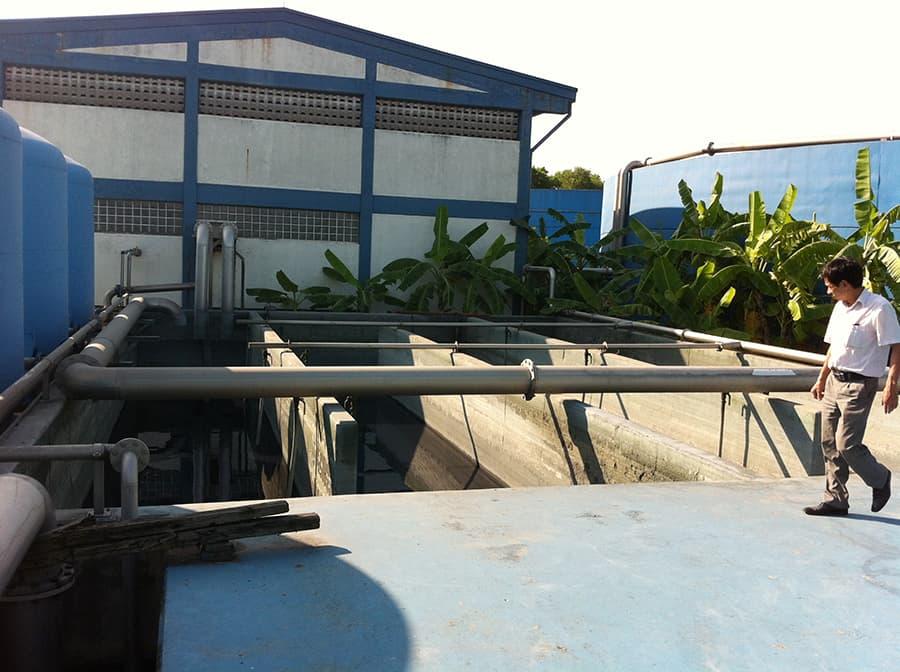 Công trình xử lý nước thải nhà máy dệt Hưng Yên