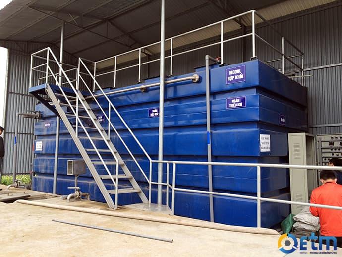 Xử lý nước thải bằng bể hợp khối - italisa