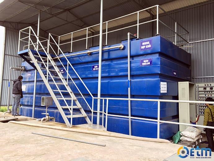 Xử lý nước thải sinh hoạt bằng Modul hợp khối