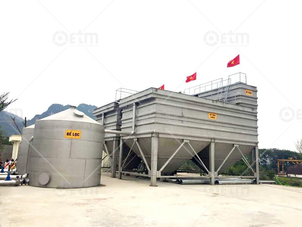 Công trình xử lý nước cấp nhà máy nước sạch Sông Đà